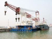 海盛9浮吊工作船