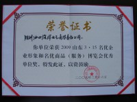 荣誉证书2009年
