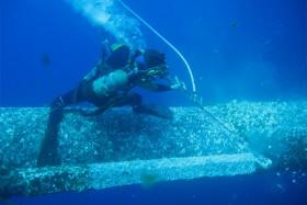 中海油平台海生物清理